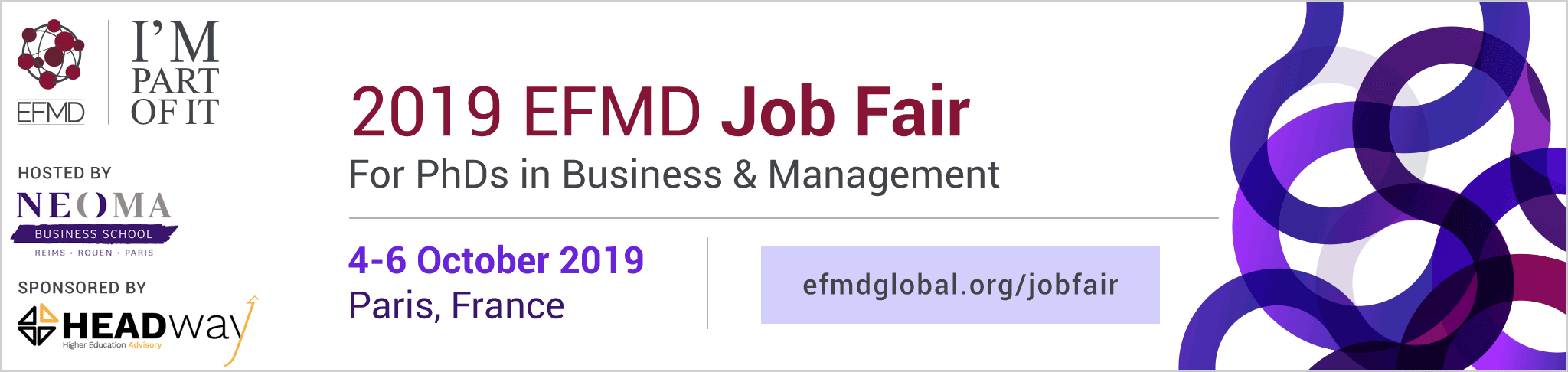 2019 EFMD Job Fair for PhDs in Business & Management - NEOMA Business School - Paris - France - Friday 4  › Sunday 6 October 2019